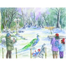 Christmas Card 2021 - small size, pack of 10 with greeting
