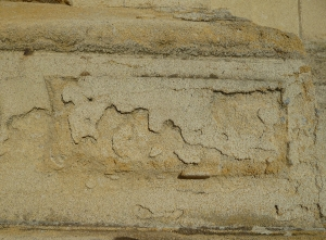 Stonework damage, Holland House, by Jennie Kettlewell